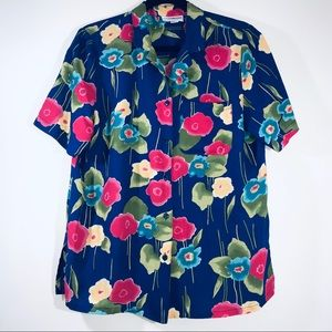 Vtg. 80s Alfred Dunner Floral Blouse - #1391
